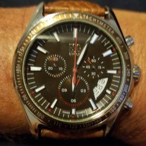 ESQ by Movado Quartz SS & Leather Watch